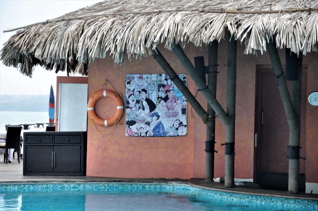 Mario Miranda inspired Azulejos, by Velha Goa for Marriots